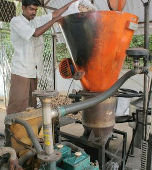 A biomass gasifier installed by a panchayat in Tamil Nadu…Off-grid power should be issued renewable energy certificates, so that it can sell at grid-based tariffs. — K. Ananthan