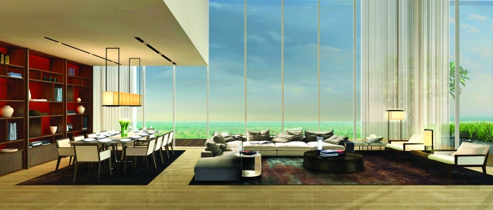 Living and Dining Room at Ireo Gurgaon Hills