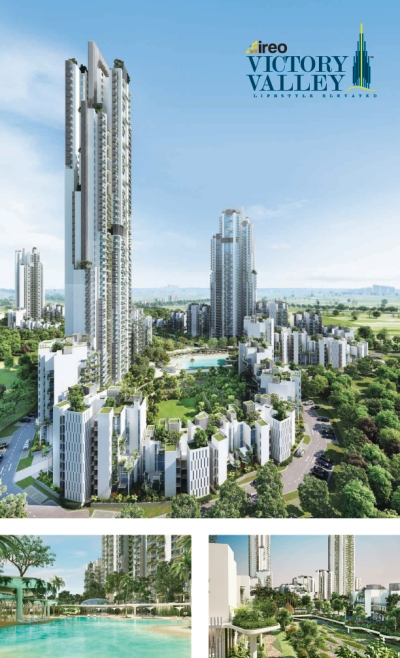 Ireo Victory Valley, located in Sector 67, Gurgaon, will be home to a majestic 51-storey tower