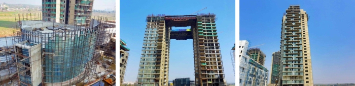 Project progress at Ireo's The Grand Arch in Sector 58, Gurgaon