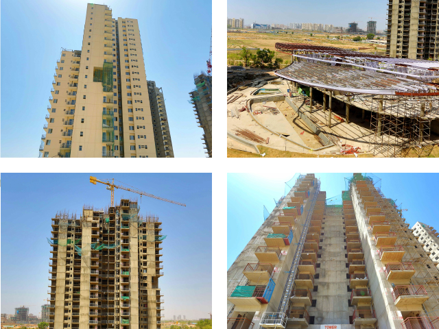 Project progress are Ireo Uptown, located in Sector 66 Gurgaon. Photos as of June 1, 2013