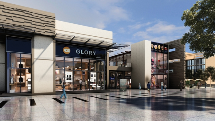 Rendering of a Shopping District at Ireo Waterfront, Ludhiana, Punjab