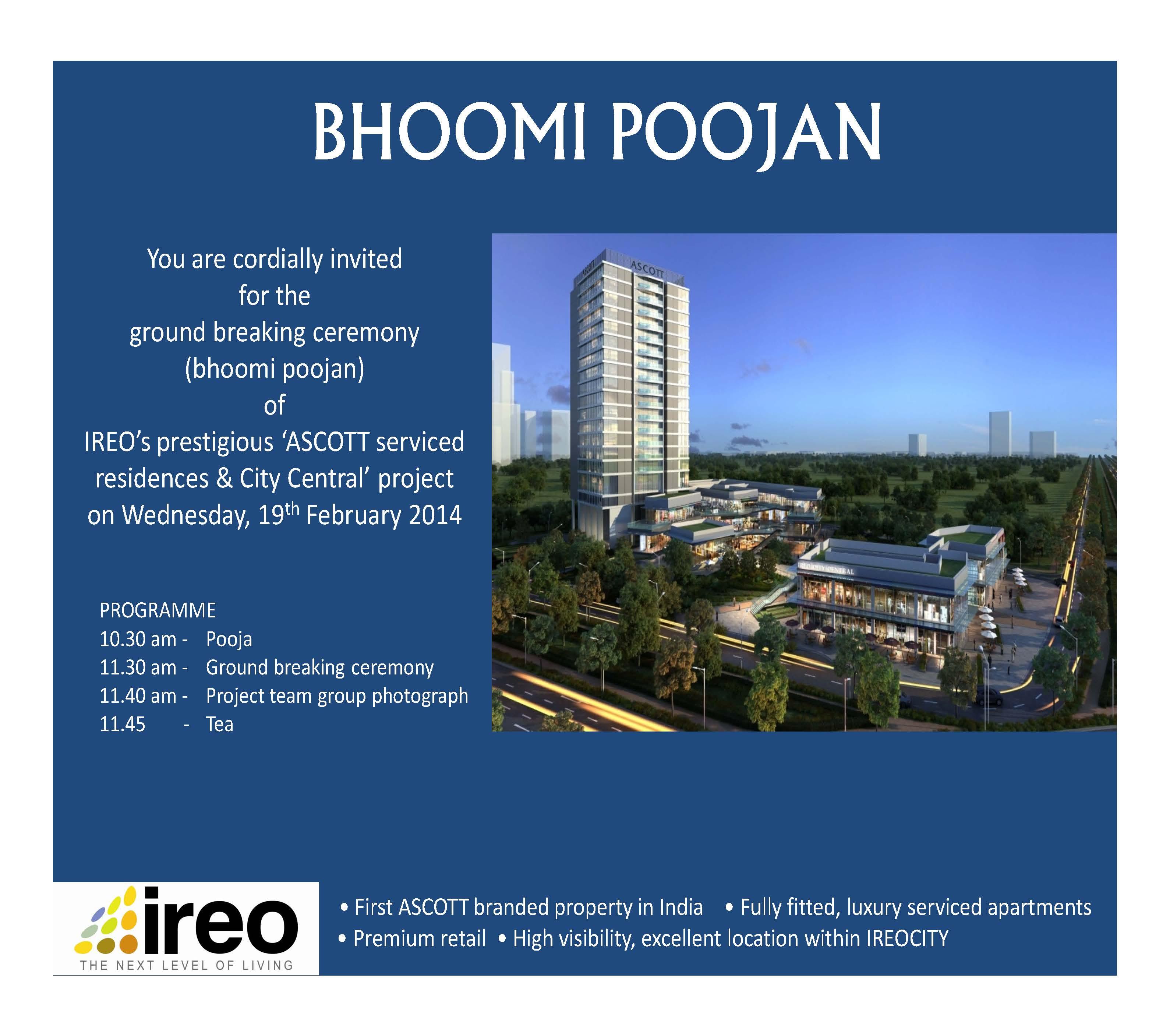 bhoomi poojan at ascott ireo city gurgaon ireo india s leading